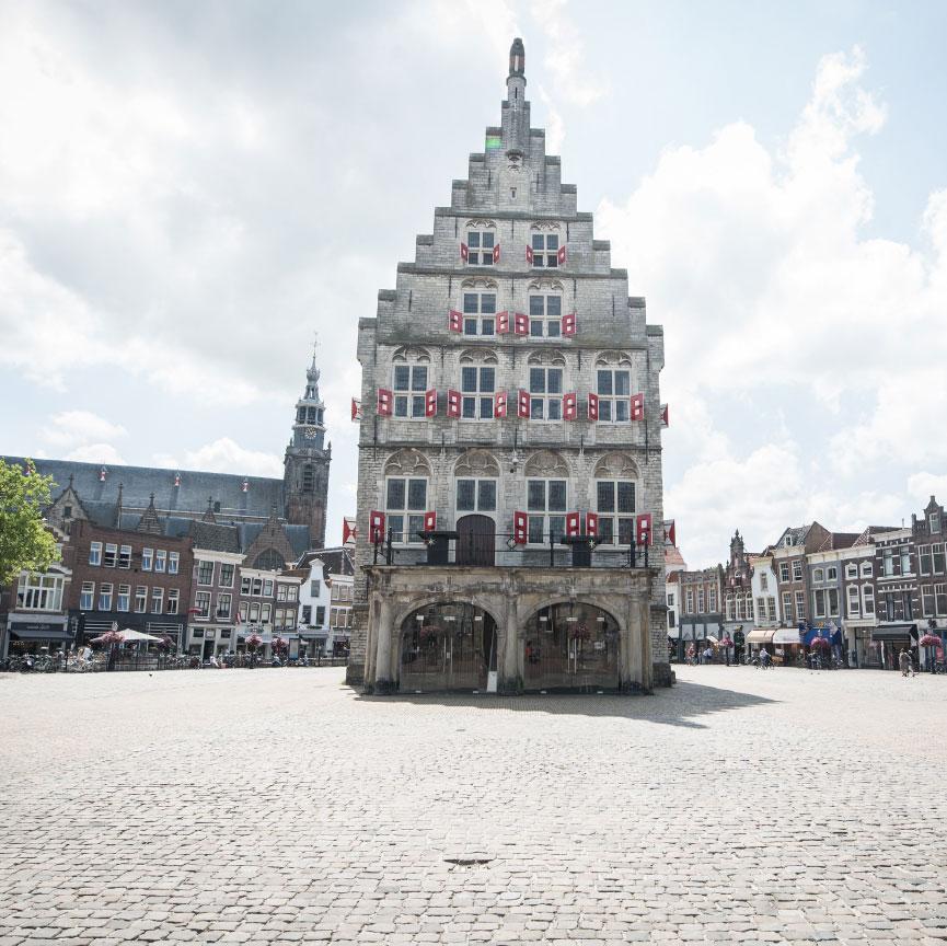 Stadhuis Gouda vooraanzicht